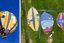 Transforming retired hot-air balloons into gowns for hospital staff