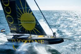Skipper Armel Tripon on L'OCCITANE en Provence's custom-built boat for the 9th Vendée Globe